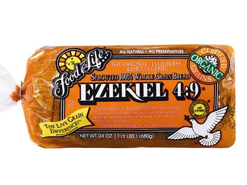 Food for Life, Ezekiel 4:9 Bread, Original Sprouted, Organic, 24oz (Pack of 2)