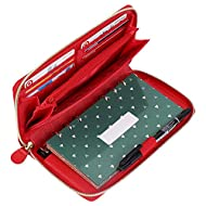 Soligt All-in-One Cash Envelopes Wallet with 12 Budget Envelopes & Budget Sheets - Red