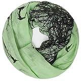 Gloop Bufanda para mujer, pañuelo redondo, monocolor, bufanda de colores 00940 verde. Talla única