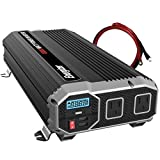 Energizer 2000 Watts Power Inverter 12V to 110V, Modified Sine Wave Car Inverter, DC to AC Converter with Dual 110 Volts AC Outlets and 2 USB Ports 2.4A ea - METLab Approved Under UL Std 458