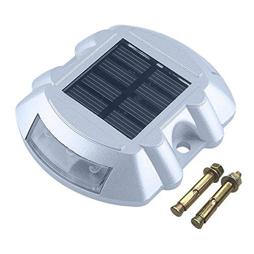 CISTWIN Bianco Alluminio Solar 6-LED Outdoor Road Pendio stradale Cavo di illuminazione a terra CI-57653W