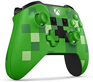 Xbox One S Microsoft Wireless and Bluetooth Controller - Special Edition Minecraft Creeper