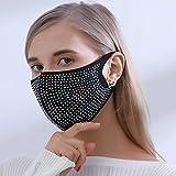 Yienate - Maschera alla moda con strass, per feste in...
