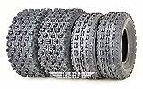 Set 4 WANDA Performance ATV Tires 21x7-10 Front & 20x10-9 Rear GNCC racing tires- 0.71' lugs- 10075/10081