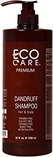 ECOCARE Dandruff Shampoo, 32 fl. oz. - For Dry and Itchy Scalp - Remove Dandruff - Prevent Thinning Hair - Anti Hair Loss - No Sulfate and No Paraben - Made in USA