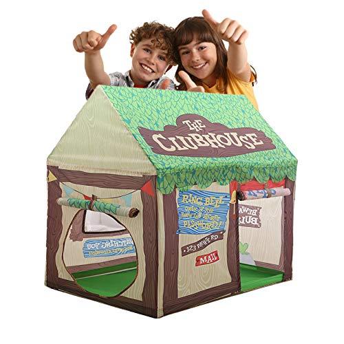 WishY Tiendas De Campaña para Niños,Cabaña Infantil con Puertas Y Ventanas Enrollables,Tienda De Juego para Niños para Interiores Y Exteriores (100 * 70 * 110CM/39.4 * 27.6 * 43.3')