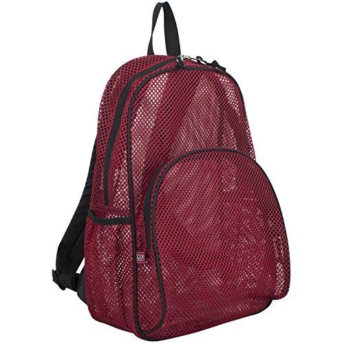 Eastsport Mesh Backpack With Adjustable Padded Shoulder Straps, Sport Red