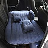 FBSPORT Car Travel Inflatable Mattress Air Bed Cushion Camping Universal SUV Extended Air Couch with Two Air Pillows Blue