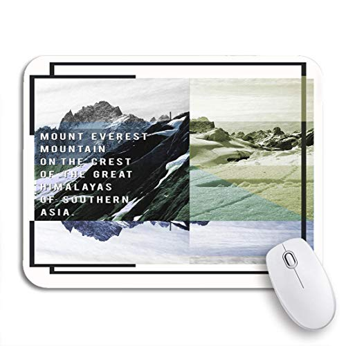 Gaming mouse pad abenteuer mountain everest tee grafiken klettern expedition explorer wandern rutschfeste gummi backing computer mousepad für notebooks maus matten
