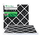 carbon ac filter - FilterBuy Allergen Odor Eliminator 20x20x1 MERV 8 Pleated AC Furnace Air Filter with Activated Carbon - Pack of 2-20x20x1