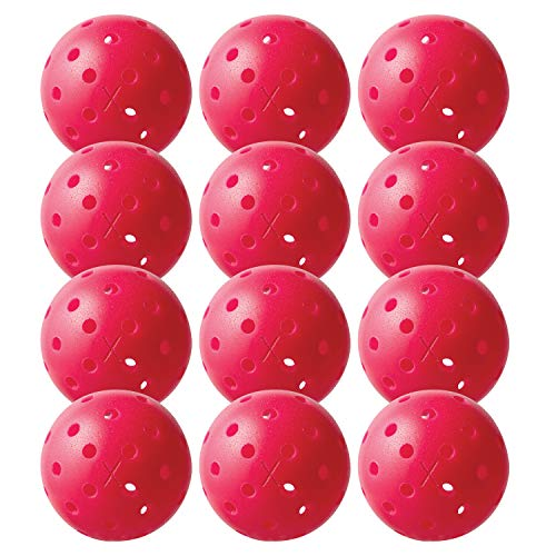 Price comparison product image Franklin Sports X-40 Pickleballs - Outdoor Pickleballs - 12 Pack Bulk - USAPA Approved - Pink - Official Ball of US Open Pickleball Championships,  Model:52830X