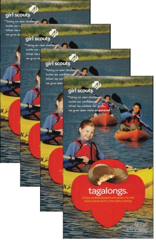 Girl Scout Tagalongs or Peanut Butter Patties (4 Boxes)