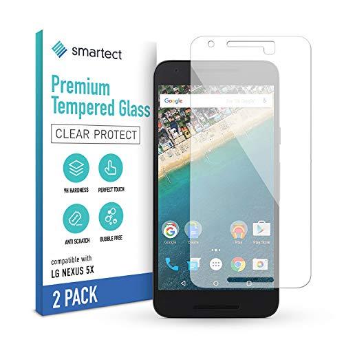 smartect Cristal Templado para Móvil LG Google Nexus 5X [2 Unidades] - Protector de pantalla 9H - Diseño ultrafino - Instalación sin burbujas - Anti-huella