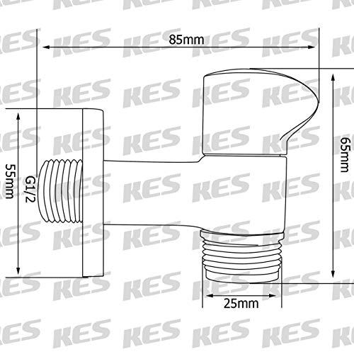KES K1001C Angebot Wasserhahn Messing 1/Einlass 5.08 3 cm – 10.16 cm (Mit Auslauf, Wandbefestigung, Poliertes Chrom - 2