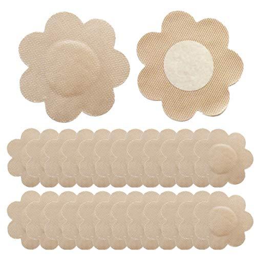 VicSec Pegatinas de Tetillas Unisex, Cubierta de Pezones Material de Tela Mezcla Uso Diario Invisible Adhesiva Desechables Cubre Perfectamente