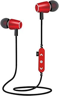 Sharplace Mp3 con Auriculares de 8GB Deportes Impermeable de Aluminio Radio FM Am Rosa roja