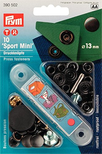 Prym Attaches de presse 13 mm Mini Sport Noir (10)