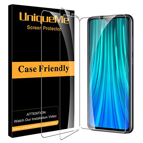 UniqueMe [3 Pack] Protector de Pantalla para Xiaomi Redmi Note 8, Vidrio Templado [ 9H Dureza ] [Sin Burbujas] HD Film Cristal Templado para Xiaomi Redmi Note 8
