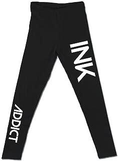 InkAddict - Ink Black Leggings for Women