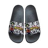 Romenoir My Hero Academia Chaussons Plage & Piscine Chaussures for garçons et Filles Slip-on Maison d'intérieur Chaussons d'été Décontracté (Color : A08, Size : EU36 US5.5)