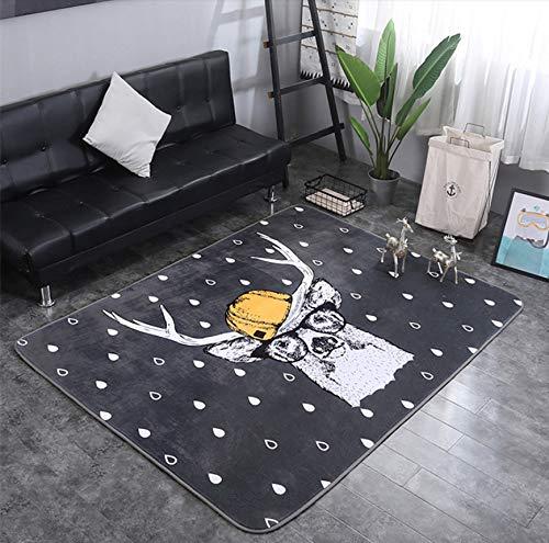 Animaux Fox Lapin Cerf Dessin Animé Motif Bébé Tapis De Jeu Enfant Crawling Couverture Couverture Nordic Kids Room Home Decor 200 * 150cm 19