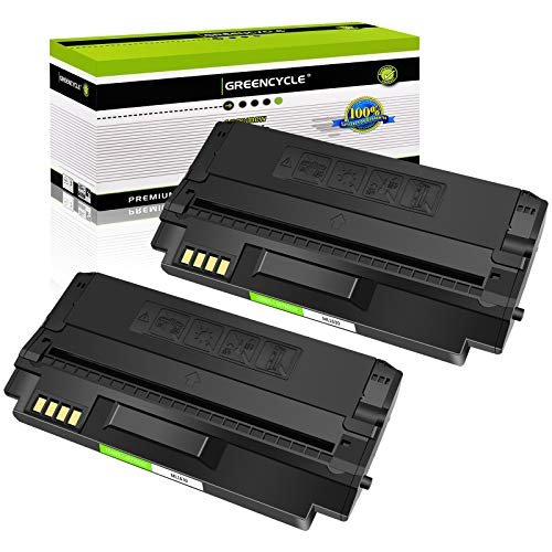 GREENCYCLE 2 Pack ML-D1630A Toner Cartridge High Yield Compatible for Samsung ML1630 ML-1630 ML-1630W SCX-4500 SCX-4500W Series Printer