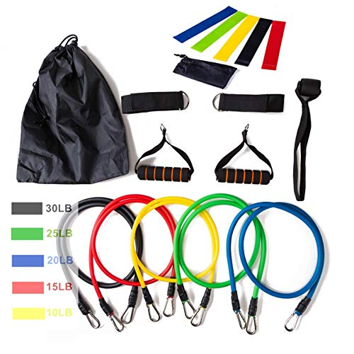 Review Of Set 16pcs Pull Rope Latex Fitness Exercises Resistance Bands, Elastic Body Fitness Workout...