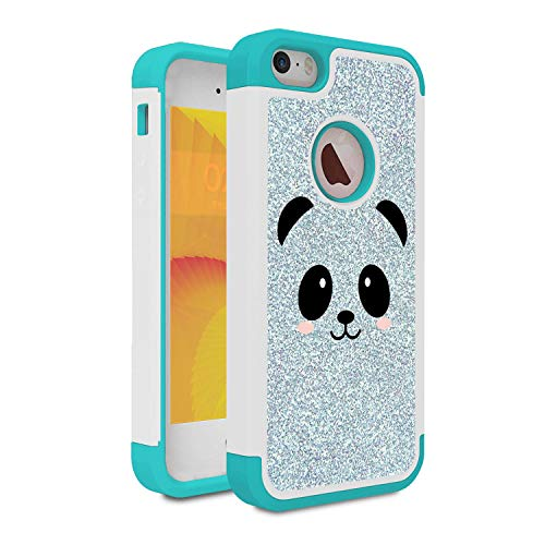iPhone 5S Case, iPhone SE Case, Skyfree Shockproof Heavy Duty Protection Hard PC & Soft TPU Hybrid Dual Layer Protective Phone Case for Apple iPhone SE/5/5S,Cute Panda Face
