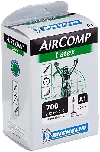 Michelin Fahrradschlauch A1 Aircomp Latex 22/23-622, SV 42 mm, 28 Zoll, 1132810200