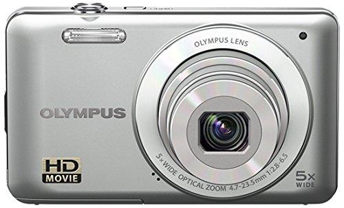 Olympus VG-120 Fotocamera compatta 14.5MP 1/2.3' CCD 4288 x 3216Pixel Argento - Fotocamera digitale (14,5 MP, 4288 x 3216 Pixel, CCD, 5x, HD, Argento)