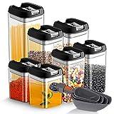 Latas de almacenamiento de alimentos Juego de 7 piezas, JOLVVN Contenedor de...