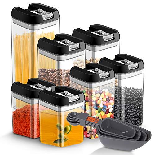 7 Impostata Contenitore per alimenti ermetico, JOLVVN durevole plastica contenitore per alimenti, senza BPA, set con serratura coperchi per mantenere il cibo fresco