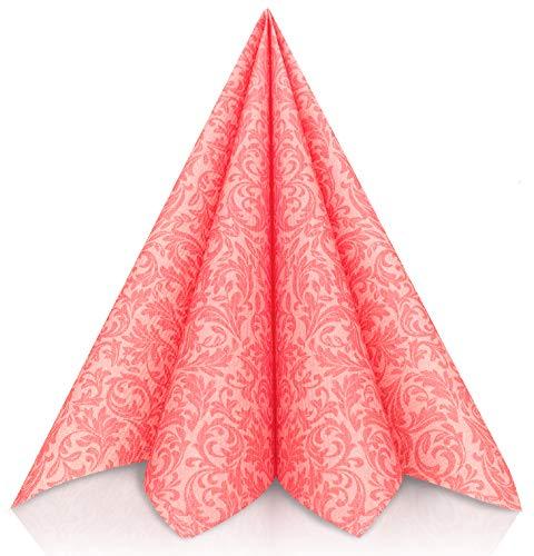 GRUBly tovaglioli di Carta in Rosa – Tovaglioli Carta Resistenti Come tovaglioli Stoffa da tavola – Perfetti per Ogni Cerimonia – Tovaglioli Colorati 40 x 40 - qualità Airlaid – Pacco da 50