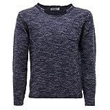 PAOLO PECORA 6634AB Maglione Bimbo Boy Junior Blue/Grey Wool Sweater Kids [8 Years]