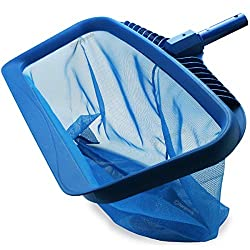 powerful Star Goods Pool Skimmer Net, High Performance Leaf Rake Cleaning Tool, Fine Mesh Bag Catcher