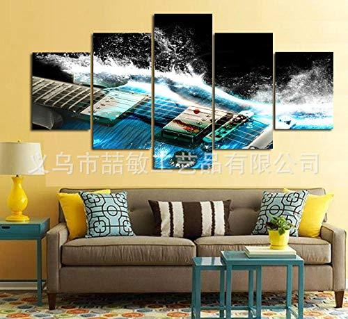 RunYun HD kunstenaar decoratie olieverfschilderij vijf bann gitaar platform 20x35cm (x2) 20x45cm (x2) 20x55cm (x1) geen lijst