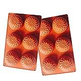 e2o Tech Runde Blume Seifenherstellung Form Kuchen Silikonform Supplies Pudding Form und Muffin...