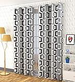 Shingaar Home Polyster Box Curtains Set of 2 (Black, 4 x 7)