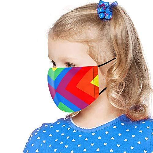 PPangUDing Kinder Mundschutz Waschbar mit Motiv Wiederverwendbar Baumwolle Atmungsaktive Staubdicht Mund und Nasenschutz Bandana Halstuch Multifunktionstuch