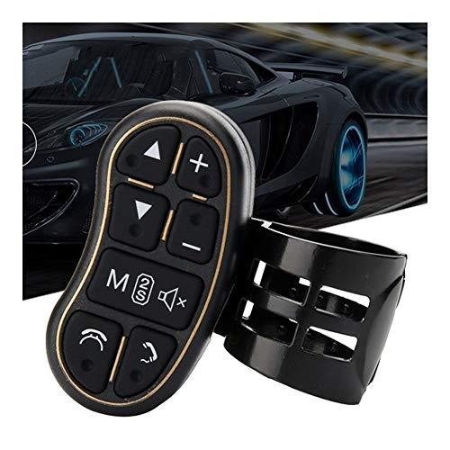 XINLIN Ruderude Car-Styling Universal Volante Controler con el Ajuste for Audi o Volumen de Control Bluetooth for DVD GPS Radio Unidad Accesorios for el Coche