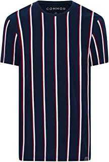 Connor Men's Huxley Stripe Crew Tee Regular T-Shirts Casual Tops Sizes XS-3XL Affordable Quality with Great Value