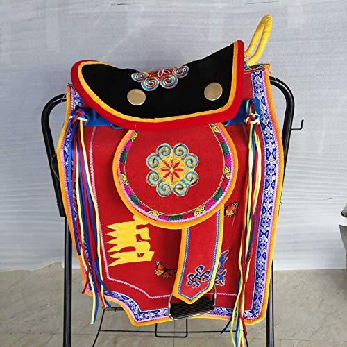 GCSEY Upgraded Paard Zadel Volledige Set van Mongoolse Toeristen Zadel Bruiloft Ceremonie Toegewijde Zadel