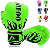GROOFOO Kinder Boxhandschuhe für Kinder Boxsack Sparring Training, 4oz fit 3 bis 9 Jahre - Grün