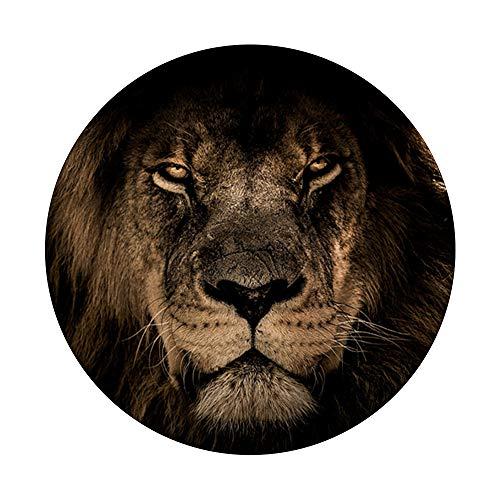 Afrikanischer Löwe Wildkatze Mähne Nahaufnahme PopSockets PopGrip: Ausziehbarer Sockel und Griff für Handys/Tablets mit Tauschbarem Top