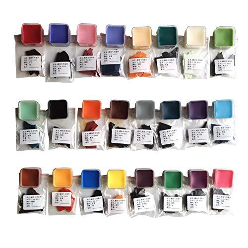 chinejaper 24 Farbe Kerzenfarbe Kerzen Dye Wachs Farbstoff Wachsfarbe Kerzenherstellung Dye für DIY Kerzen