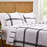 Amazon Brand – Stone & Beam Farmhouse Distressed Seersucker Duvet Cover Set, Full / Queen, Charcoal