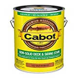 Cabot 140.0001417.007 Semi-Solid Deck & Siding Stain, Gallon, New Redwood