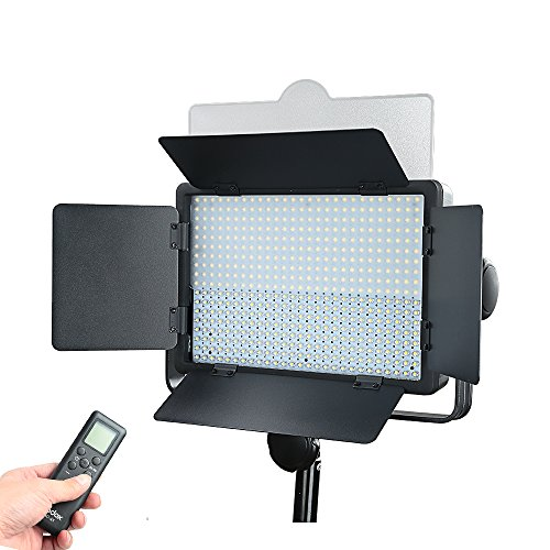 Godox LED500W LED 5600K video wit licht lamp paneel afstandsbediening voor studio, bruiloft, macrotografie, fotojournaalistiek en video-opname (LED500W)
