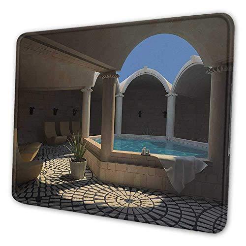 Landschaft Tastatur Tastatur Innenansicht eines Spa-Hotels mit Badewanne in der Kreismitte Therapie Foto drucken Notebook Computer Mauspad grau blau