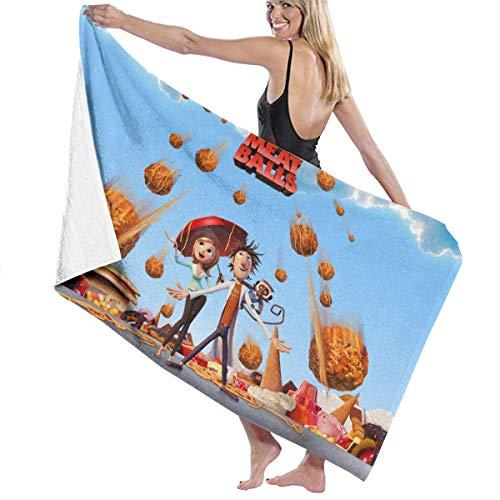 Cloudy with A Chance of Meatballs - Juego de toallas de playa para baño y baño